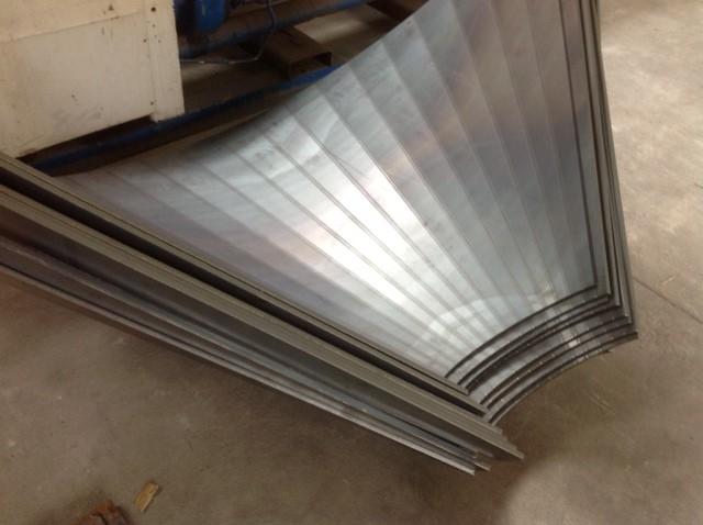 Gięcie blach, Gięcie blach aluminiowych